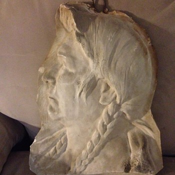 Sculpted Indian Head - Olin Warner - Visual Art