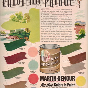 1950 Martin-Senour Paint Advertisement - Advertising