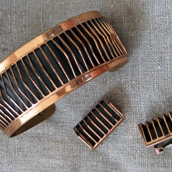 Interesting geometric copper designs - Costume Jewelry