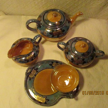JAPAN LUSTERWARE 1932-1940 TEA AND TOAST SET - Asian