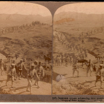 Stereoscopic Japanese troop picture
