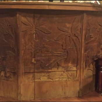 Japanese hand carved mural bar
