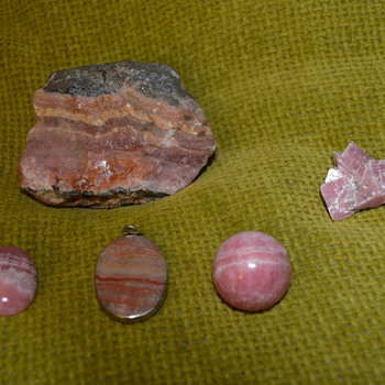 Rhodochrosite stone, crystal and carving - Fine Jewelry
