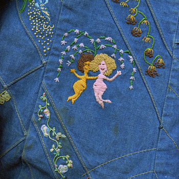 #39 ~ Michelle's San Francisco Hippie Era Embroidered Denim Skirt
