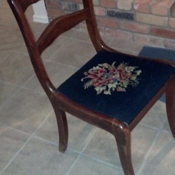 Flower Back Sewing Chair