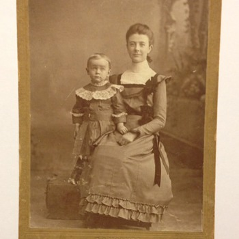 Aunt & Nephew antique cabinet Card photographer F.S. Hooker - Photographs