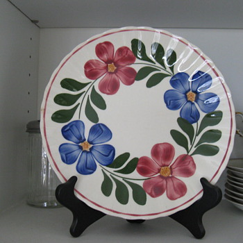 Blue Ridge Pottery, Petunia pattern - China and Dinnerware
