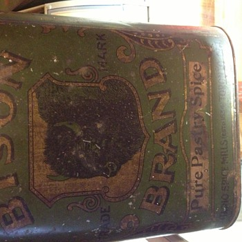 Ontario Spice Mills Bison Brand Tin - Advertising