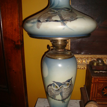 Pittsburgh Lamp and Brass co. Great Horned Owl Lamp - Victorian Era