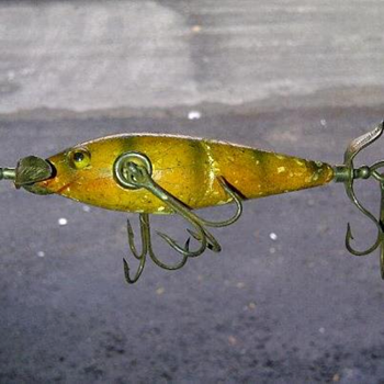 old fishing lure - Fishing