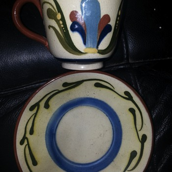 cup & saucer - Art Pottery