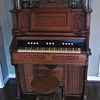 1898 Sears Beckwith pump organ, with a strange but true story! - Victorian Era