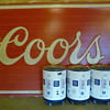 HUGE Coors sign 12&#039; 8&quot; Wide x 7&#039; 8&quot; Tall 