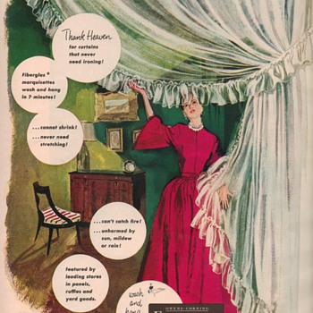 1950 Owens-Corning Marquisettes Advertisement - Advertising