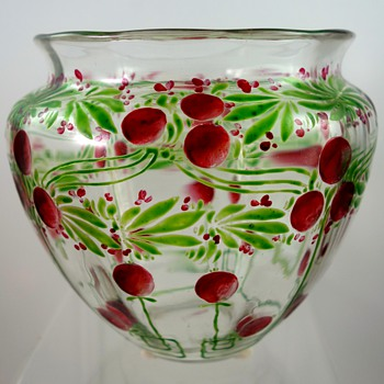 "Loetz ""Laurus"" vase, crystal optic DEK 499, PN II-1449, ca. 1904 - Art Glass"