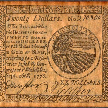 Colonial Currency - Novelty Note (United States) - US Paper Money