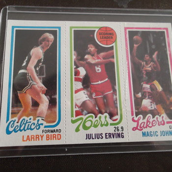 1980-81 Topps Larry Bird and Magic Johnson Rc Basketball Card - Baseball