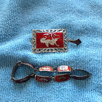 Stering silver bracelet & pendent