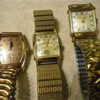 3 Antique Wristwatches - Art Deco