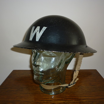 British WWII Civil Defence Wardens steel helmet 1940 - Military and Wartime