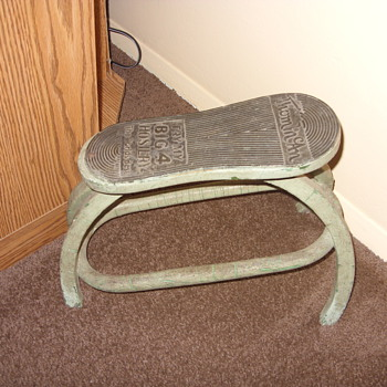 very old thom mcan shoe stand - Advertising