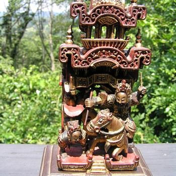 Chinese Chaozhou Wood carving - Asian