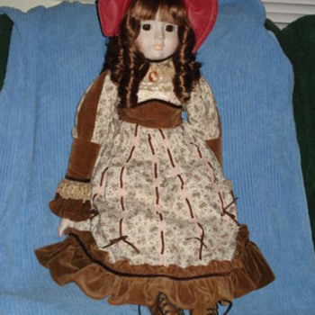 Antique Doll Rone Sankyo Mado in Japan