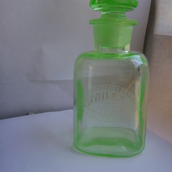 Green (Vaseline) TOILET WATER BOTTLE - Bottles
