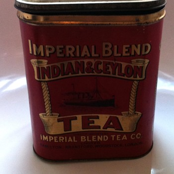 Imperial Blend Indian and Ceylon tea tin. - Advertising