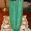 Very Nice Green, Black and White Signed Czech. Vase
