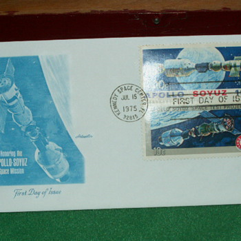 1975 Apollo-Soyuz Mission First Day Of Issue Envelope & 10¢ Stamp - Stamps