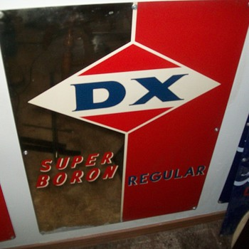 D-X pump sign collection from the 1960s