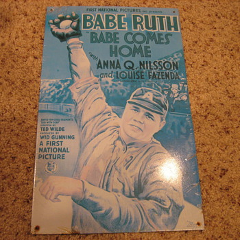 Shrinkwrapped Babe Ruth Babe Comes Home Tin Movie Poster - Baseball