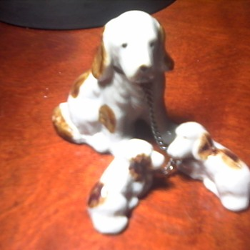 Porcelain Dog and Pups - Animals