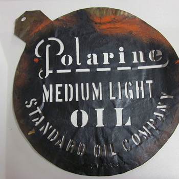 Polarine Standard Oil Brass Template - Petroliana