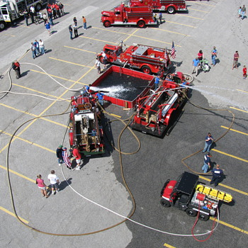 "Service Personnel honored on Sept. 11th ""Cruisin' For Our Heroes,"" 50 antique vehicles and Fire Engines - Firefighting"