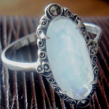 Sterling Silver Moonstone ring - Fine Jewelry