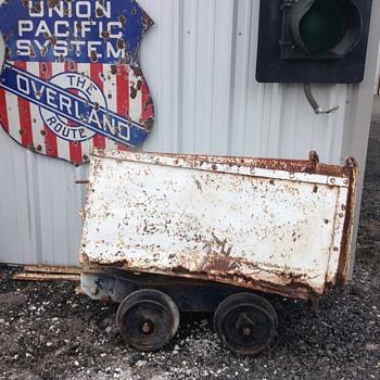 Rusty Mine Cart - Railroadiana