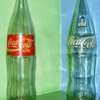 1ltr Glass Coke Bottles