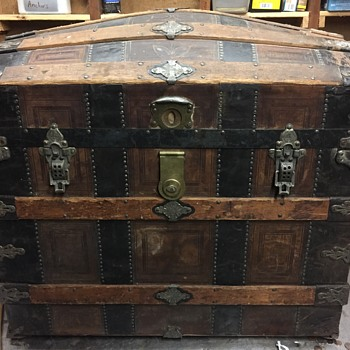 Leather covered trunk