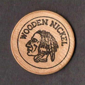 Wooden Nickel - Generic - US Coins