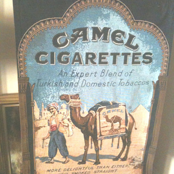 Vintage Camel Cigarettes Advertising Banner - Advertising