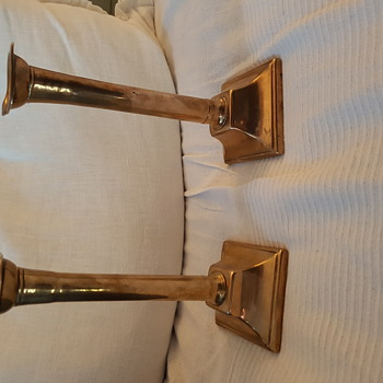 Brass Candle Sticks - what date ? - Lamps
