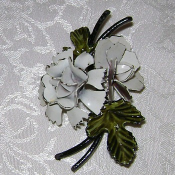 A Hard Life Flower Brooch - Costume Jewelry