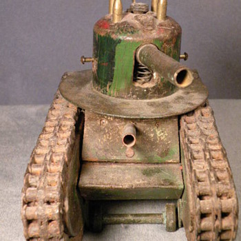 Trench Art Tank - Folk Art