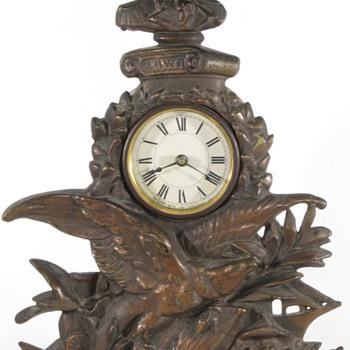 Thomas Jefferson Cast Front Clock, ca. 1900 - Clocks
