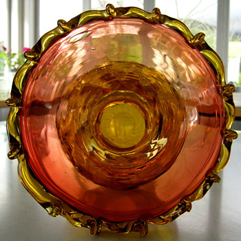 New England Amberina Glass Vase? - Art Glass