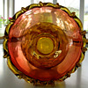 New England Amberina Glass Vase?