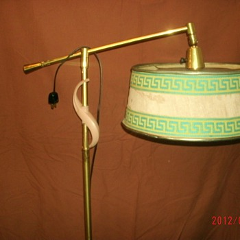Vintage Floor lamp with fabric ( or paper?) shade - Lamps