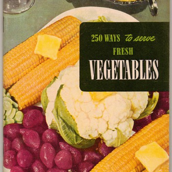 "1950 - Recipe Booklet ""Vegetables"" - Books"